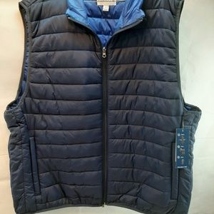 SADDLEBRED VEST SIZE XL COLOR HARBOR NAVY PACKABLE